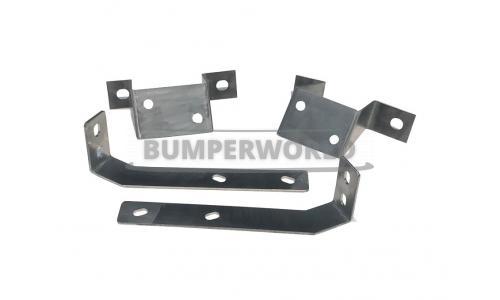 Bumper steunen voor en achter t.b.v. het ombouwen van late 260Z en 280Z bumpers naar 240Z bumpers.